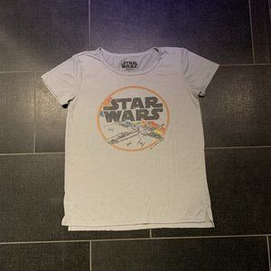 Star Wars Millennium Falcon Distressed Graphic Tee